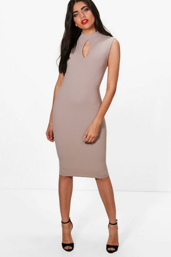 Kerry Keyhole Neck Midi Dress