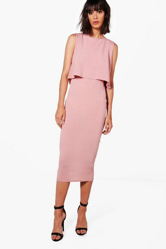 Molly Crinkle Double Layer Dress