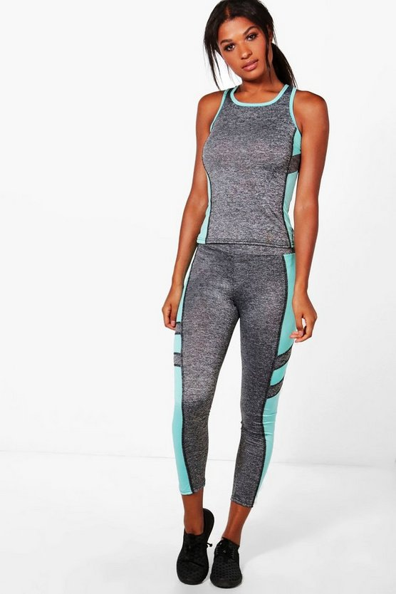 Hope Fit Contrast Panel Vest & Legging Set