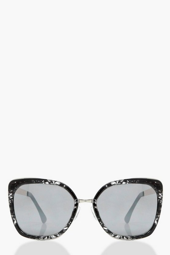 Lois Marbled Frame Effect Sunglasses