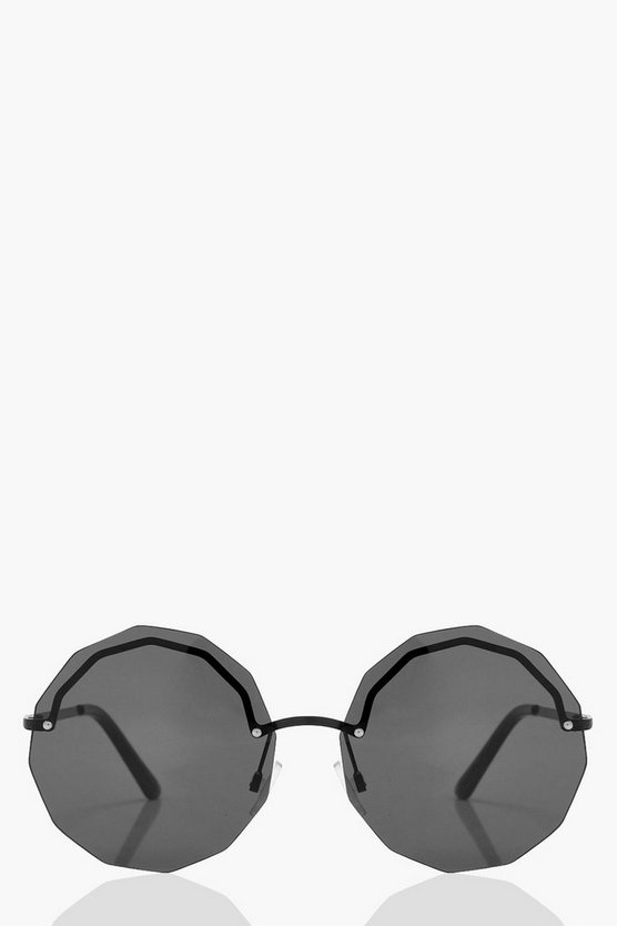 Laura Frameless Multi Edge Sunglasses