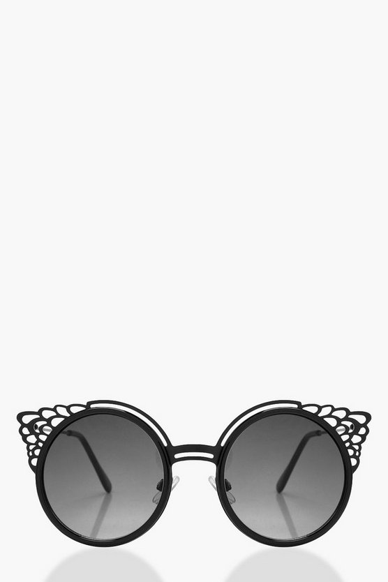 Nina Filigree Round Sunglasses