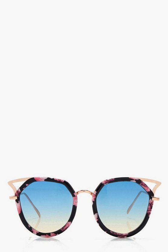 Darcey Cat Eye Print Frame Sunglasses