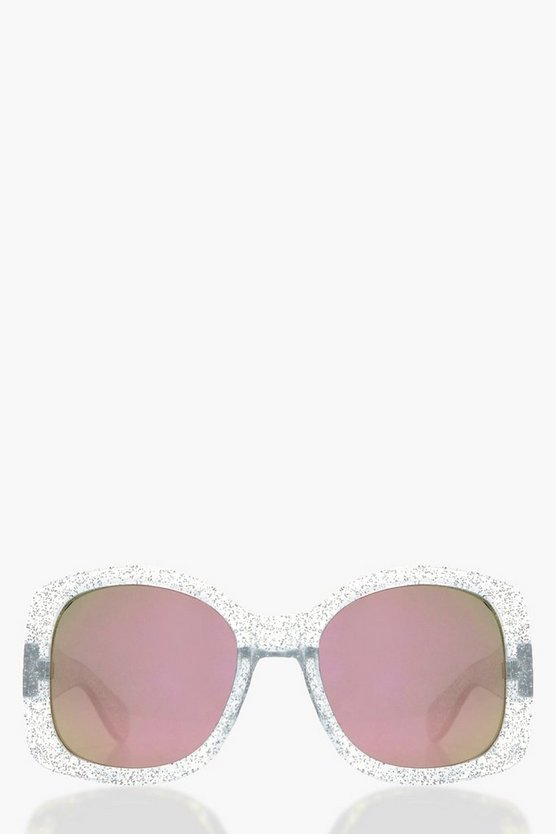 Nancy Oversized Glitter Frame Sunglasses