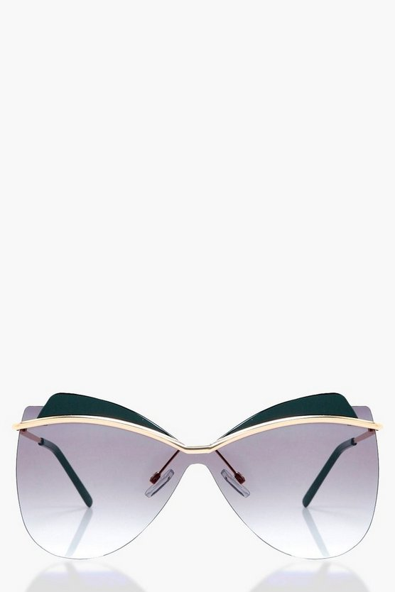 Laura Oversized Frameless Sunglasses