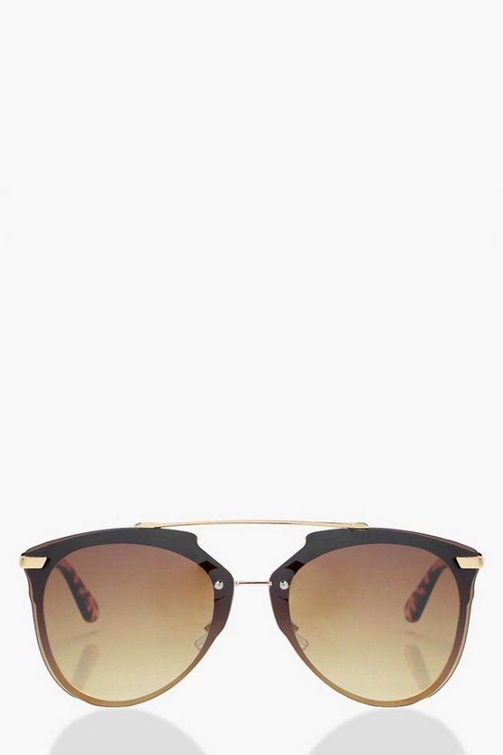 Hope Double Bridged Framless Sunglasses