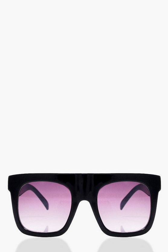 Faye Oversized Square Plastic Sunglasses