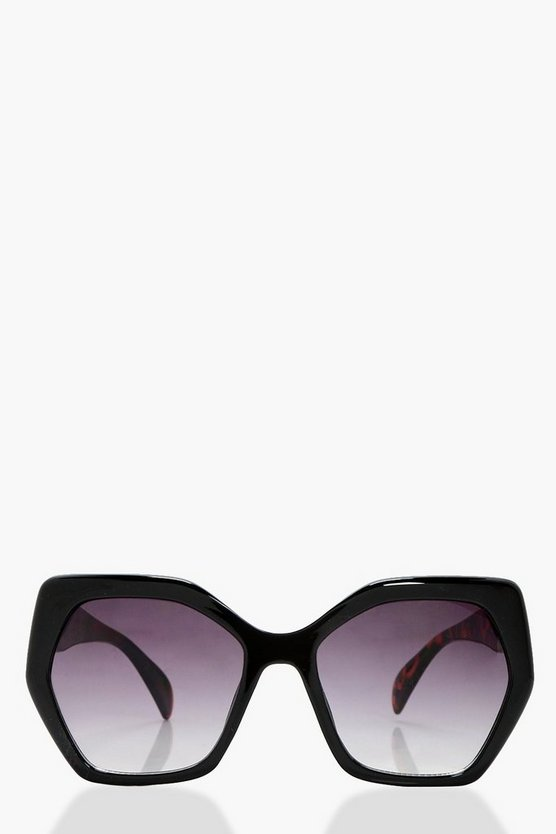 Serena Oversized Angular Sunglasses