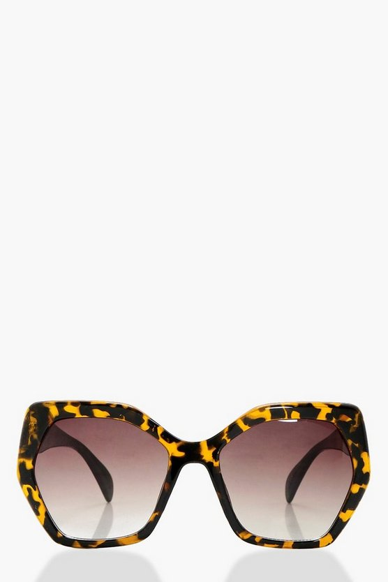 Ava Tortoise Shell Oversized Sunglasses