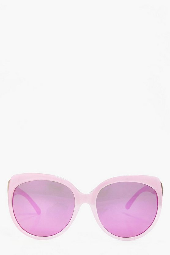 Laila Mirror Oversized Sunglasses