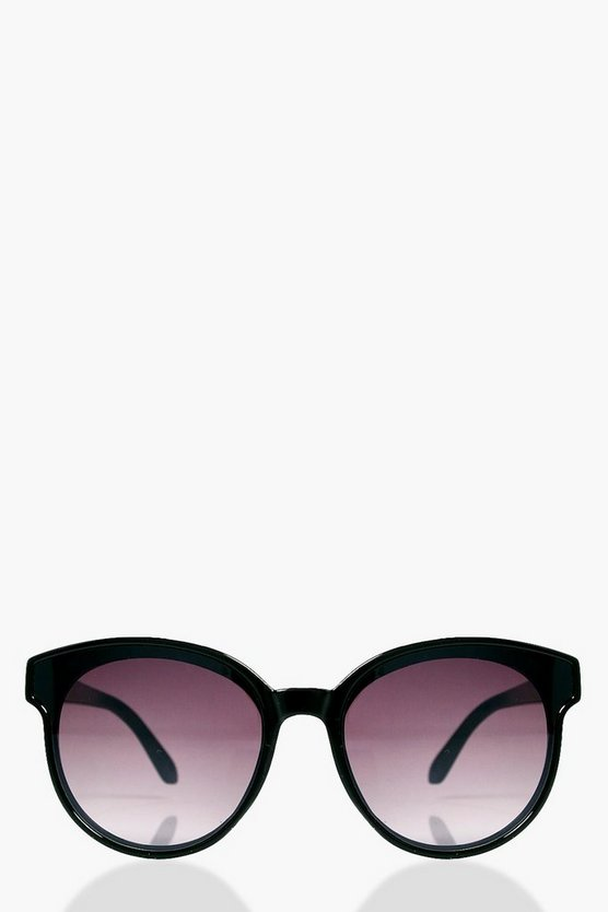 Nancy Smoke Lens Round Sunglasses