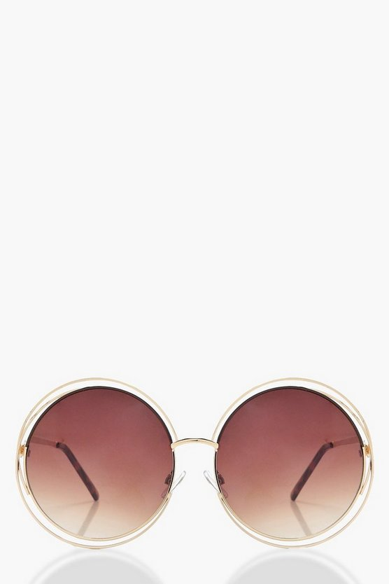 Anya Metallic Round Sunglasses