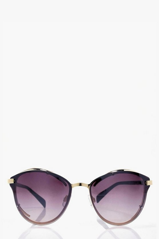 Sadie Gold Trim Cat Eye Sunglasses