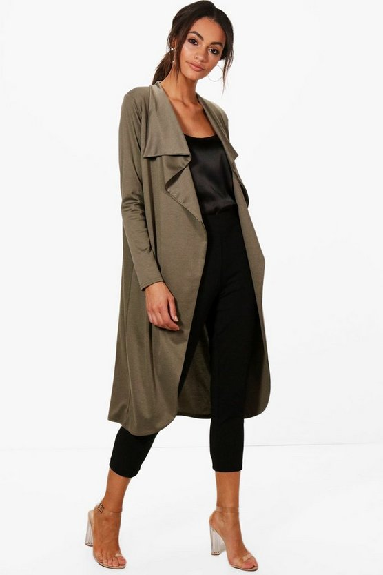 Kate Ponte Wrap Front Duster Jacket