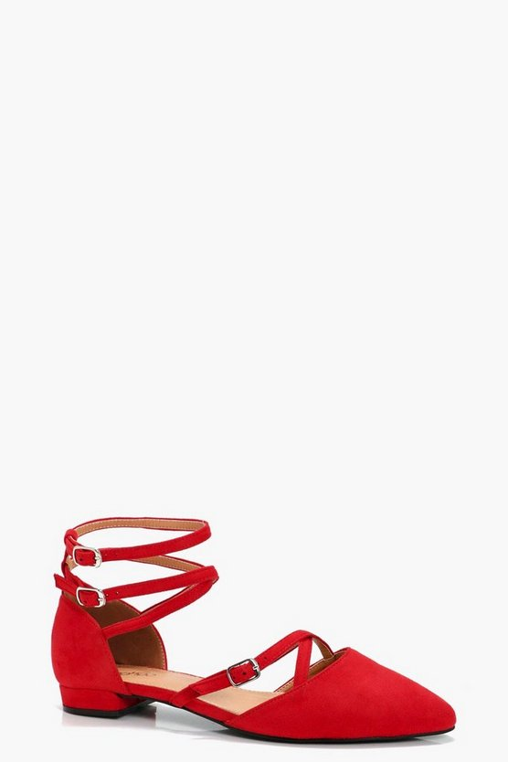 Alice Multi Strap & Buckle Pointed Flats