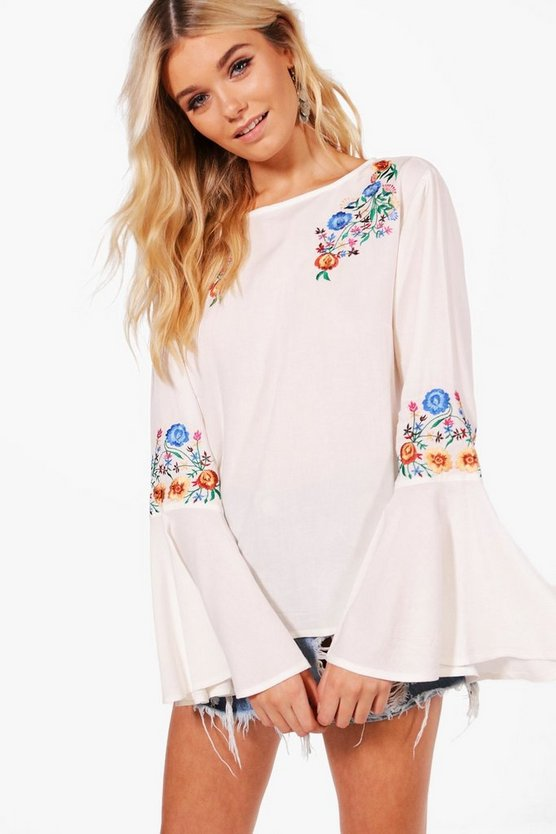 Alice Applique Flare Sleeve Top