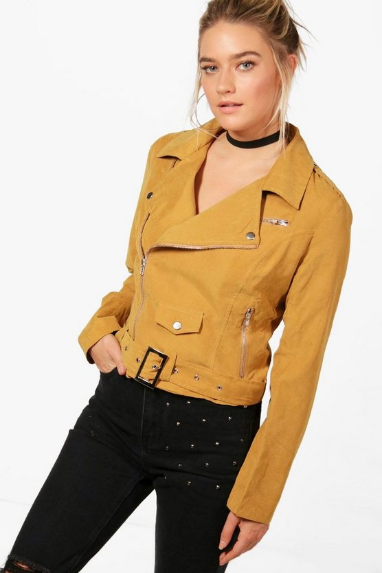 Holly Belted Suedette Jacket