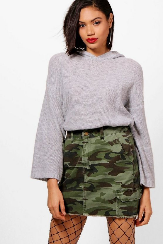 Kelly Hooded Oversized Boxy Jumper