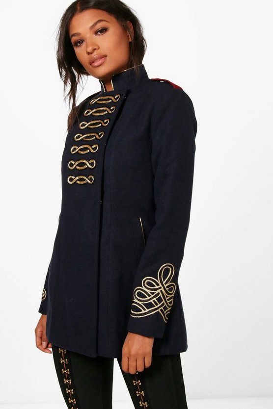 Kelly Boutique Wool Admiral Military Coat