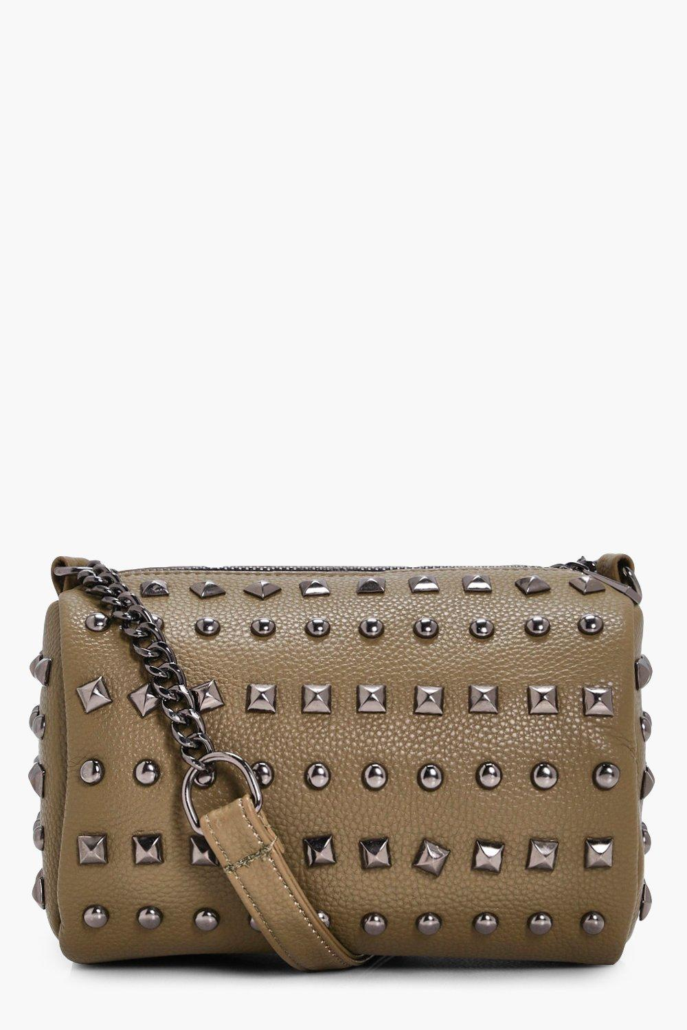 Multi Stud Cross Body - khaki - Josie Multi Stud C