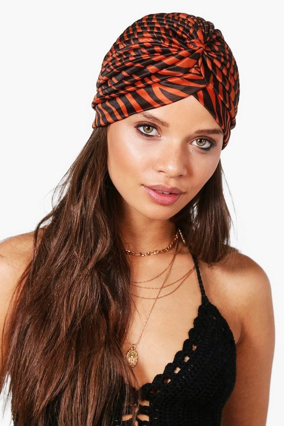 Penny Printed Jersey Turban