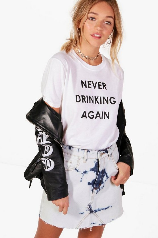 Avery Never Drinking Again Tee