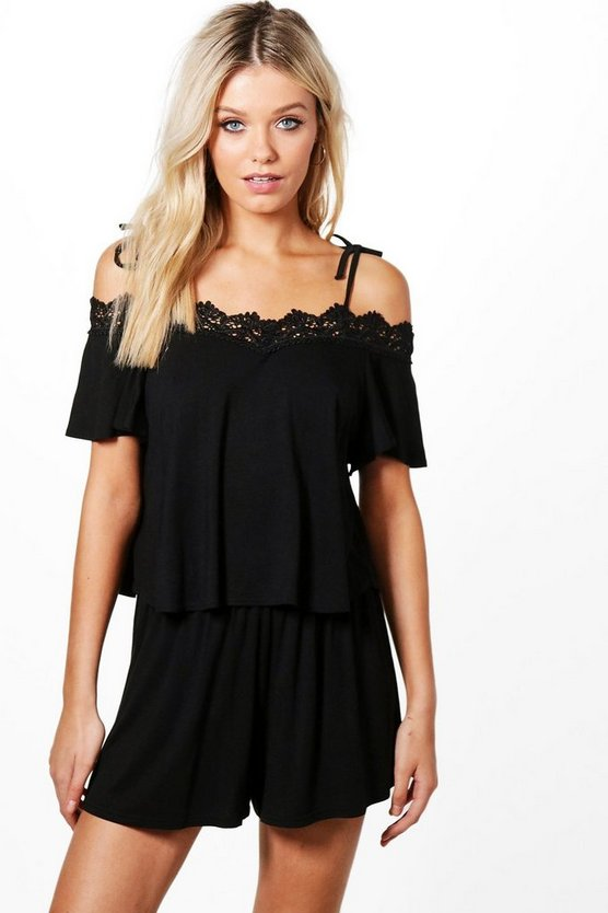 Vickie Crochet Crop & Short Co-ord