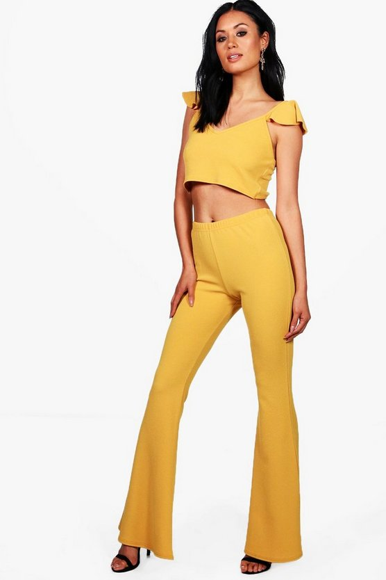Rachel Frill Crop & Flare Trouser Co-ord Set
