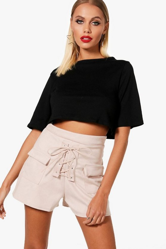 Mavis Lace Up Shorts & Tee Co-ord Set