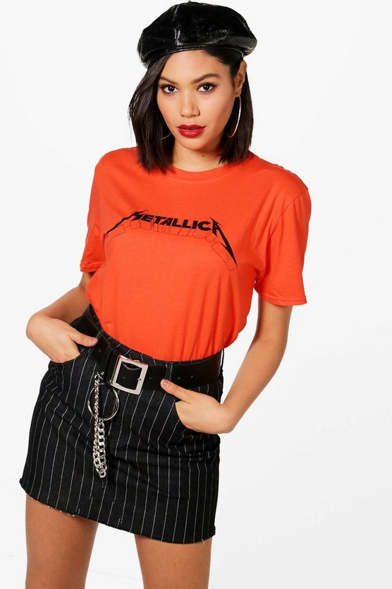 Lily License Metallica Slogan Bright Tee
