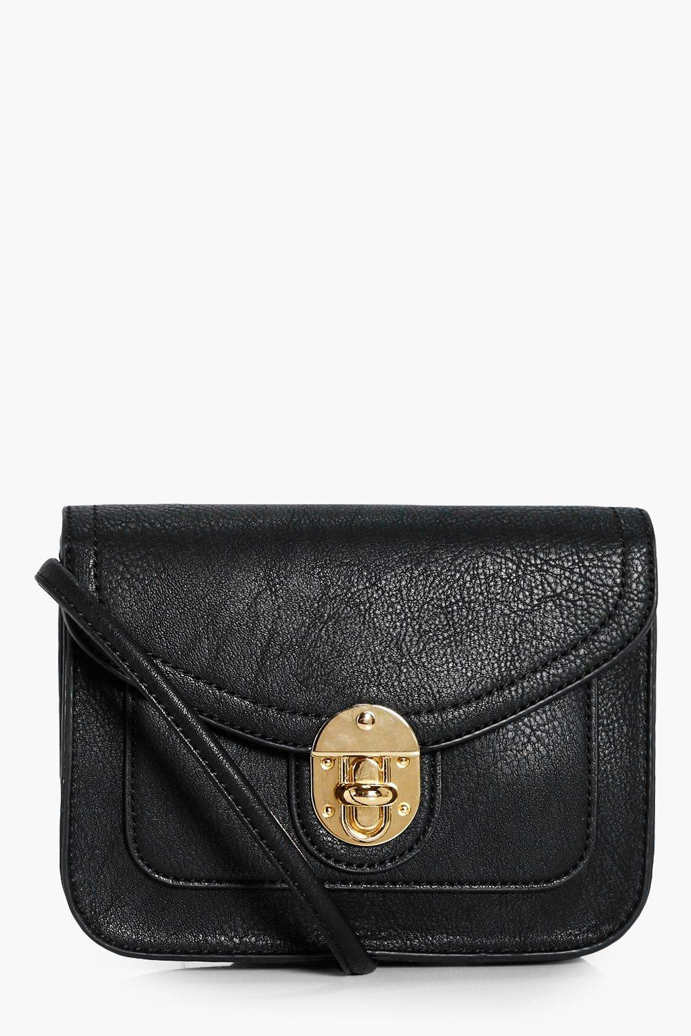 Lock Structured Cross Body - black - Natasha Lock