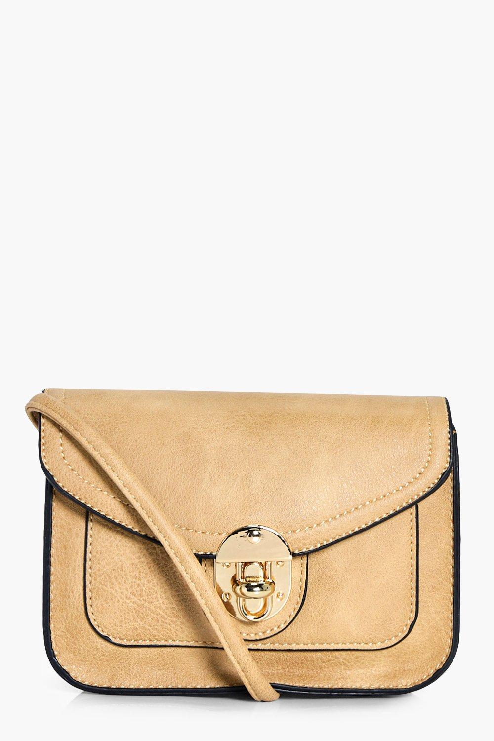 Lock Structured Cross Body - taupe - Natasha Lock