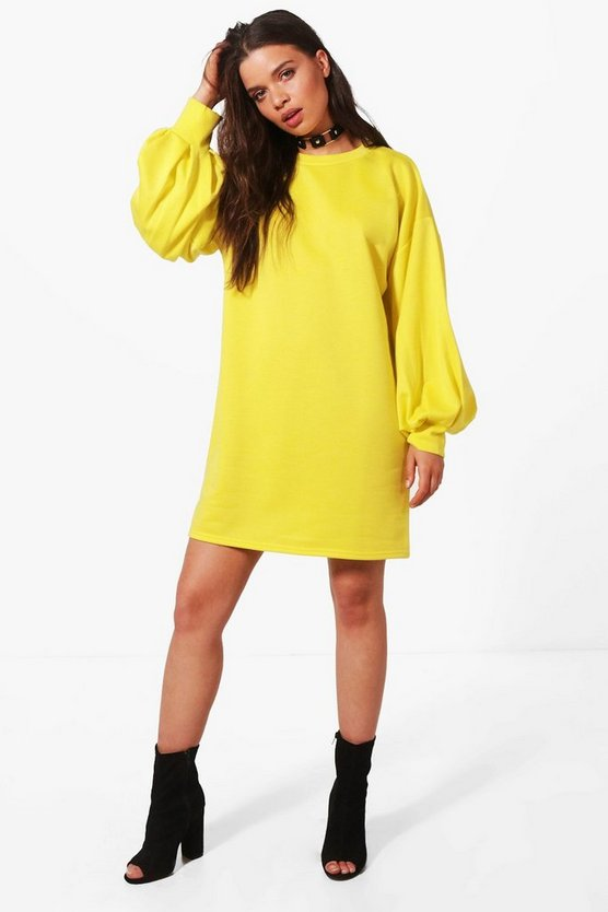 Amelia Puff Sleeve Sweat Dress