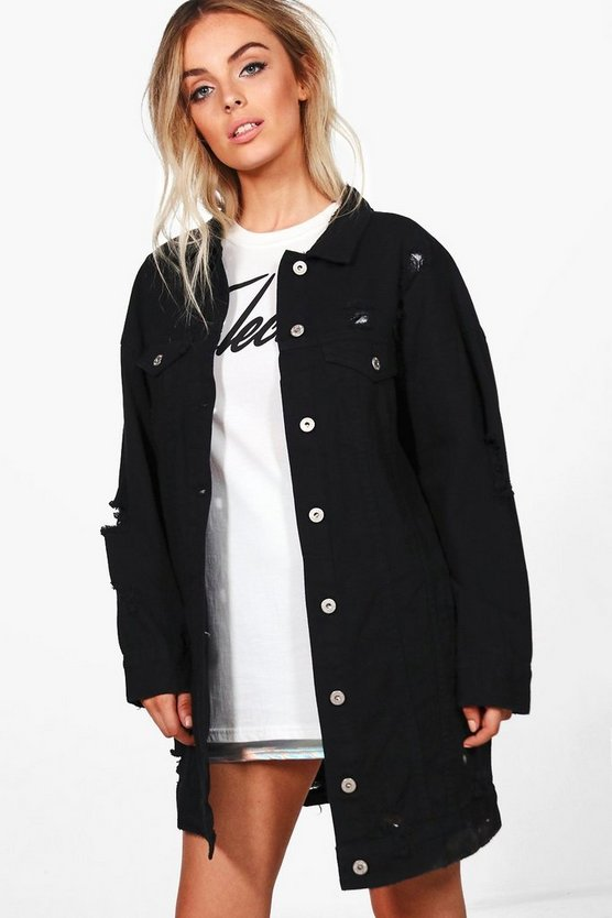 Harriet Oversized Distressed Jacket
