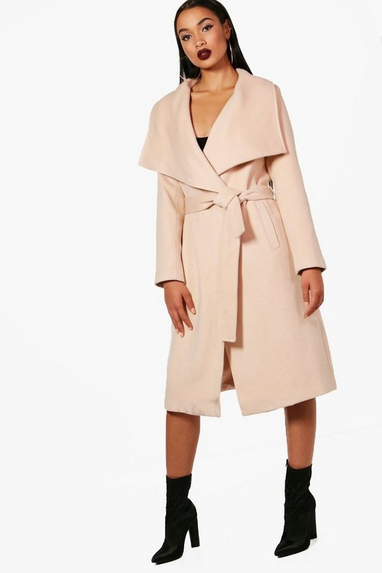 Madeleine Belted Waterfall Coat