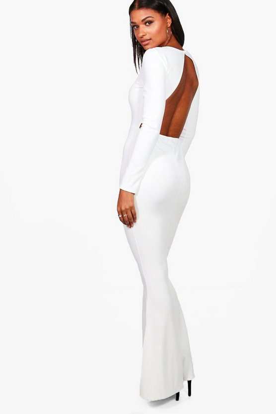 Timi Long Sleeve Open Back Maxi Dress