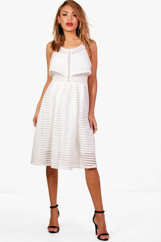 Boutique Eloise Panelled Double Layer Skater Dress