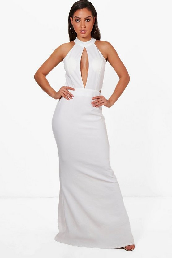 Cut Out Detail Fishtail Maxi Dress
