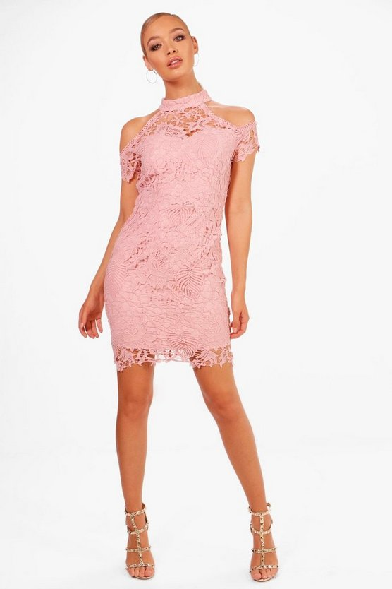 Boutique Vera Corded Lace Midi Dress