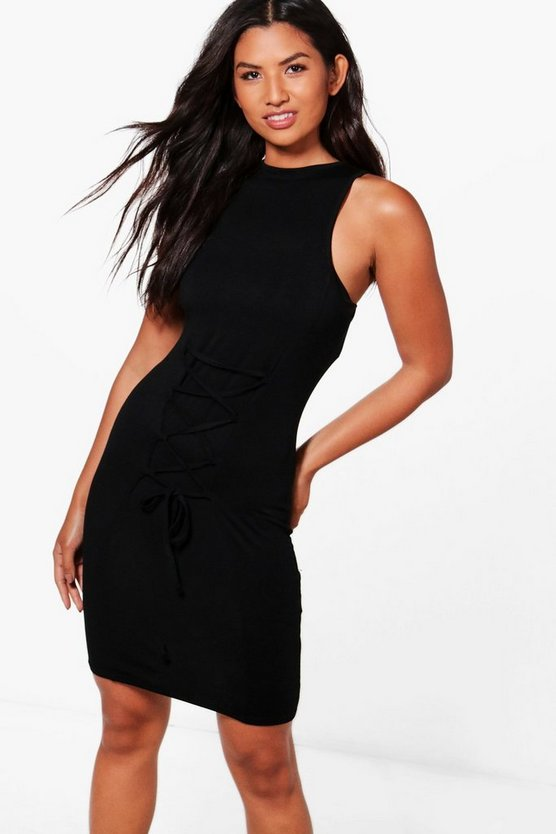 Willow Racer High Neck Bodycon Dress