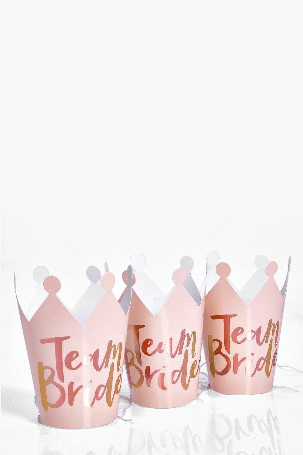 Bride Hen Party Crowns 5 Pack - rose gold - Team B