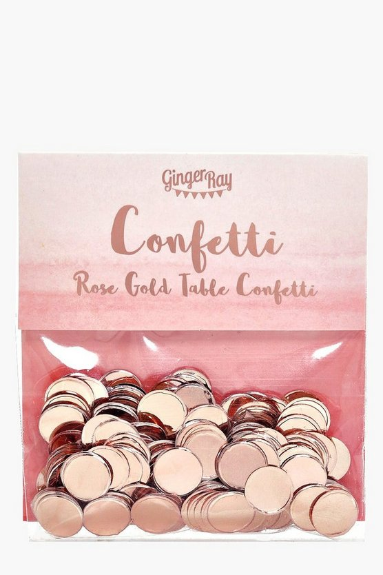 Hen Party Rose Gold Metallic Confetti