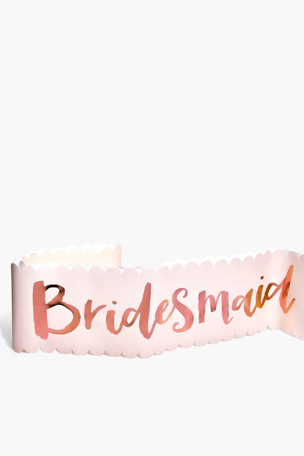 Hen Party Sash 2 Pack - rose gold - Bridesmaid Hen