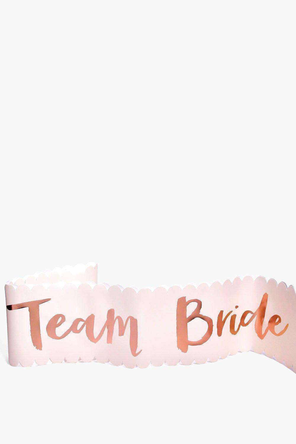Bride Metallic Sash 6 Pack - rose gold - Team Brid