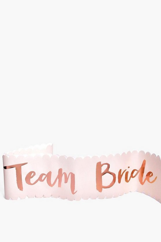 Team Bride Metallic Sash 6 Pack