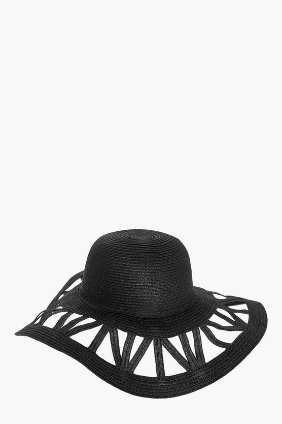 Diana Cutout Floppy Hat