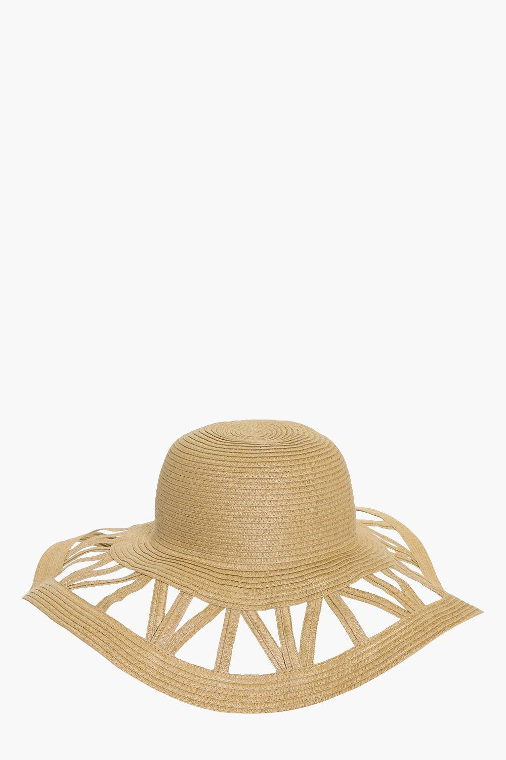 Cutout Floppy Hat - natural - Diana Cutout Floppy