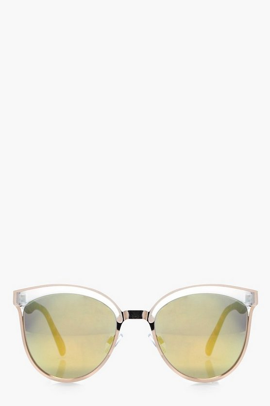 Kate Retro Tortoise Mixed Frame Sunglasses