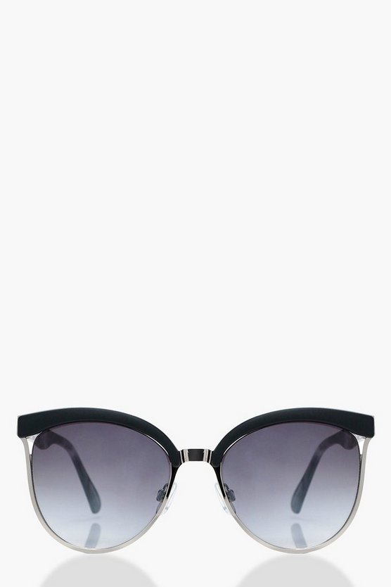 Macy Retro Arm Mixed Frame Sunglasses