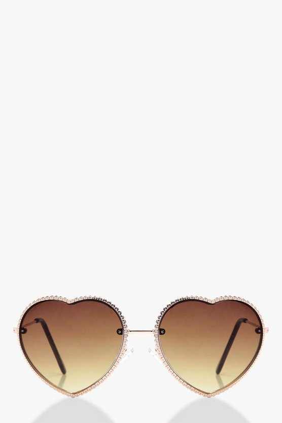 Honey Heart Shaped Sunglasses
